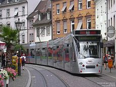 Tramvaie prin Freiburg