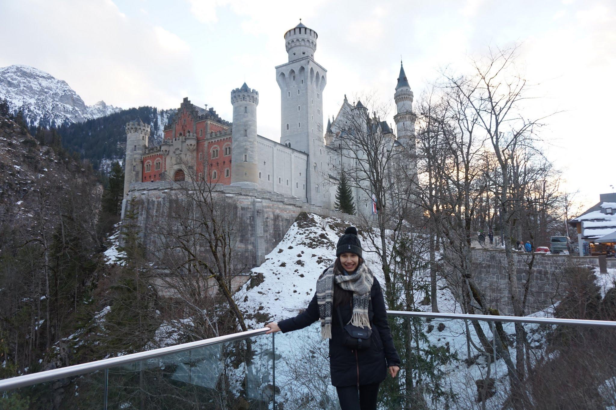 Andreea si Neuschwanstein