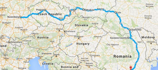 12 zile prin Europa Centrala si de Est. Nurnberg, Praga, Cracovia, Auschwitz, Liov si Cernauti.