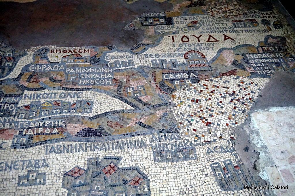 Mozaicul Tarii Sfinte din Madaba, catacombe istorice si Muntele Nebo.